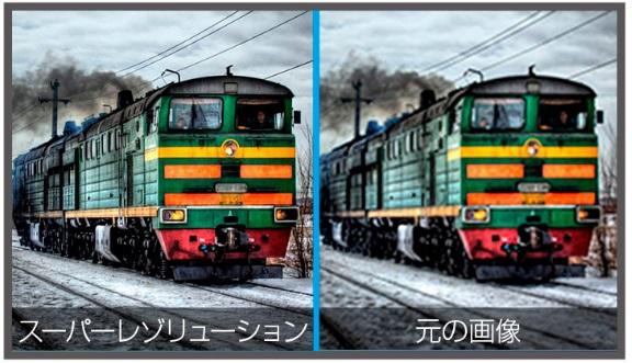 スーパーレゾリューション機能の比較画像